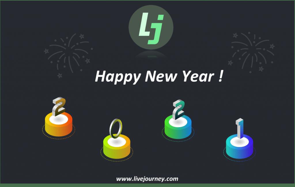 Happy new year 2021, live journey